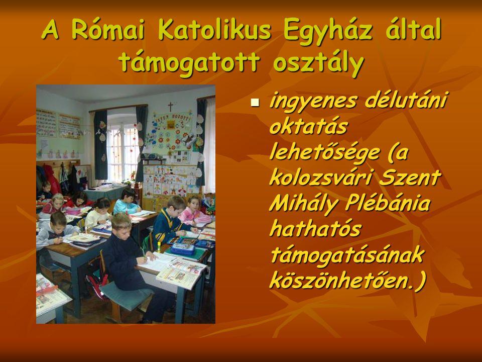 A Római Katolikus Egyház által támogatott osztály
