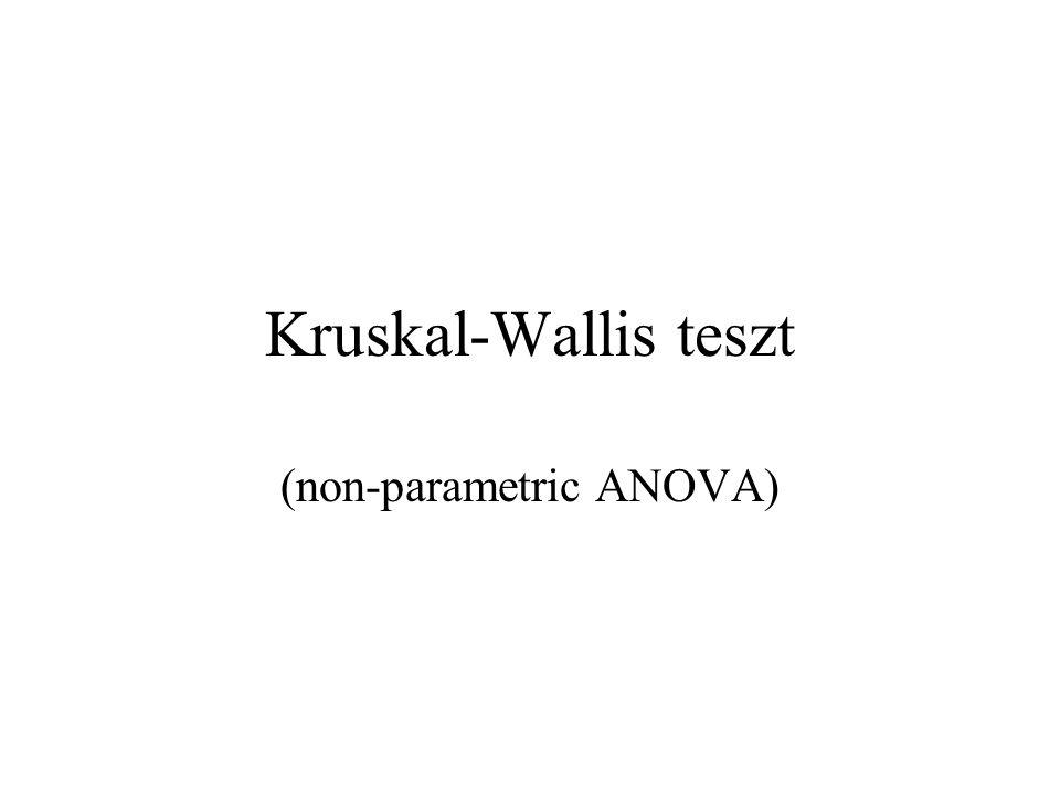 (non-parametric ANOVA)