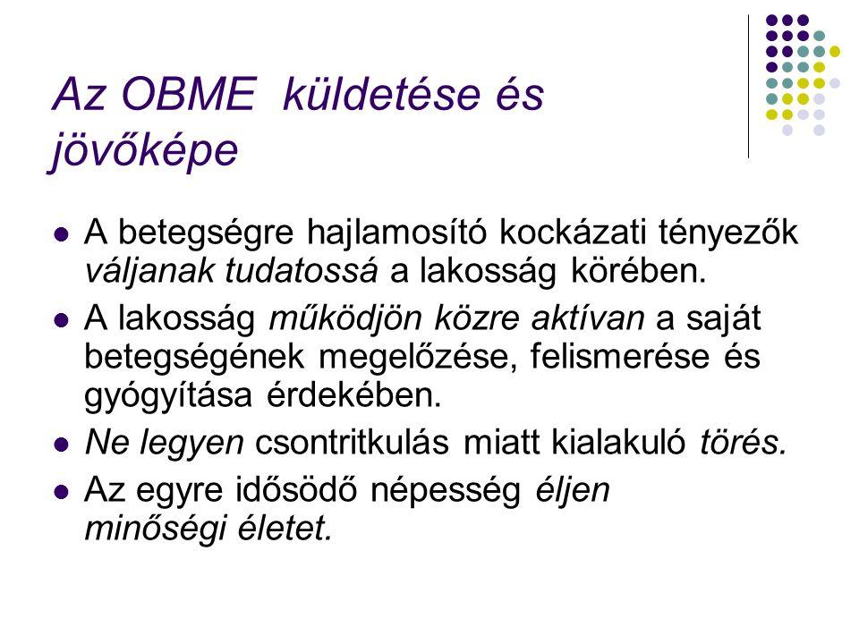 Az OBME küldetése és jövőképe