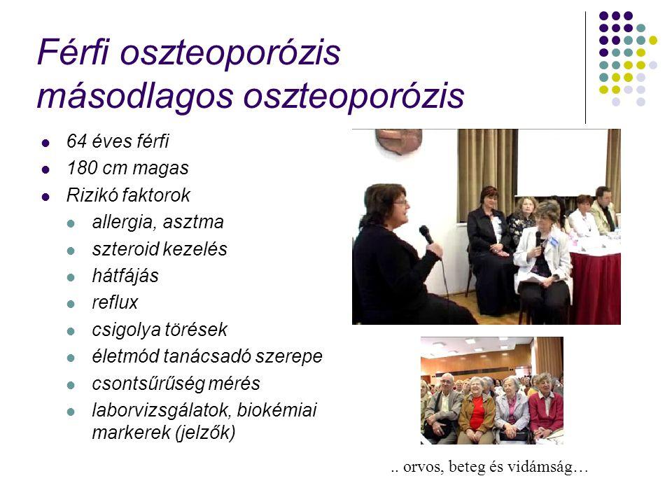 Férfi oszteoporózis másodlagos oszteoporózis