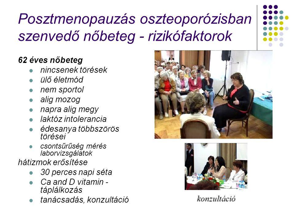 Posztmenopauzás oszteoporózisban szenvedő nőbeteg - rizikófaktorok