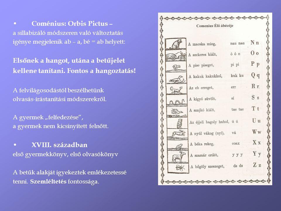 Coménius: Orbis Pictus –