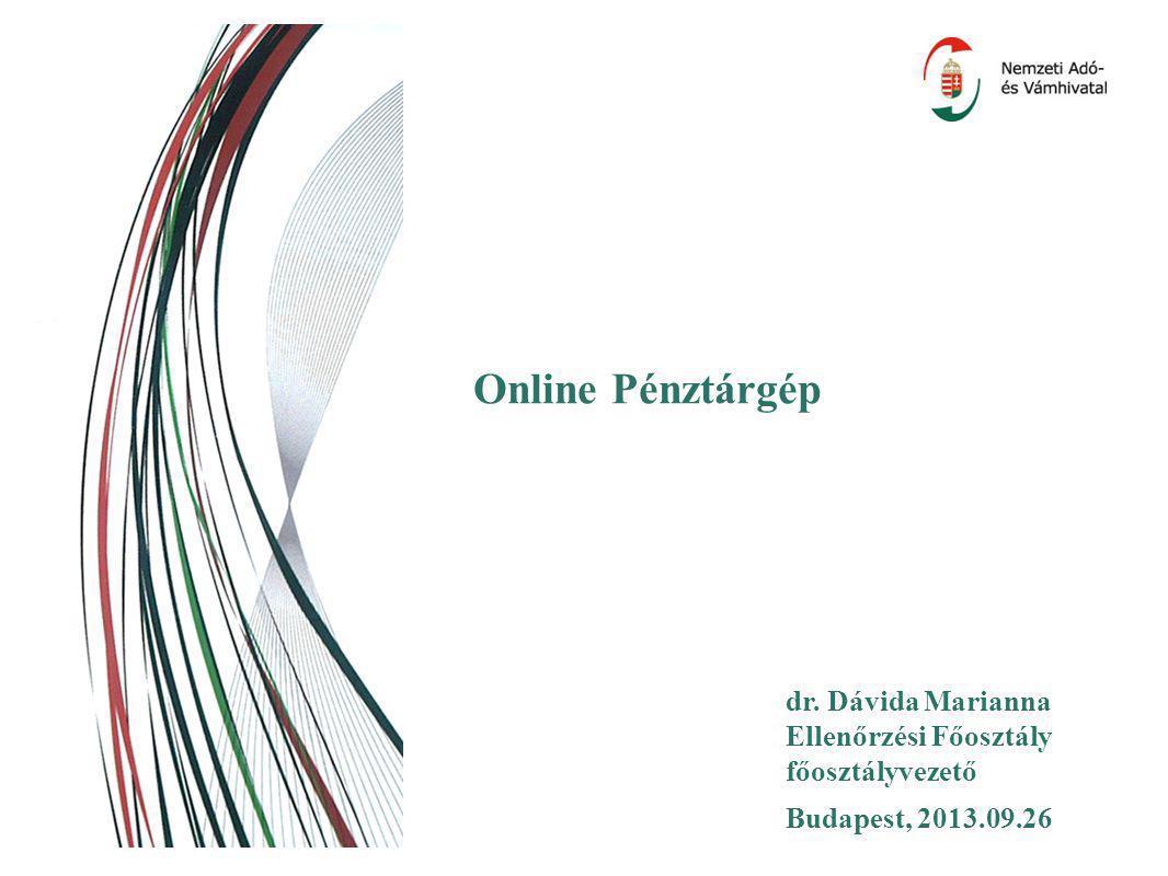 Online Pénztárgép dr. Dávida Marianna Ellenőrzési Főosztály