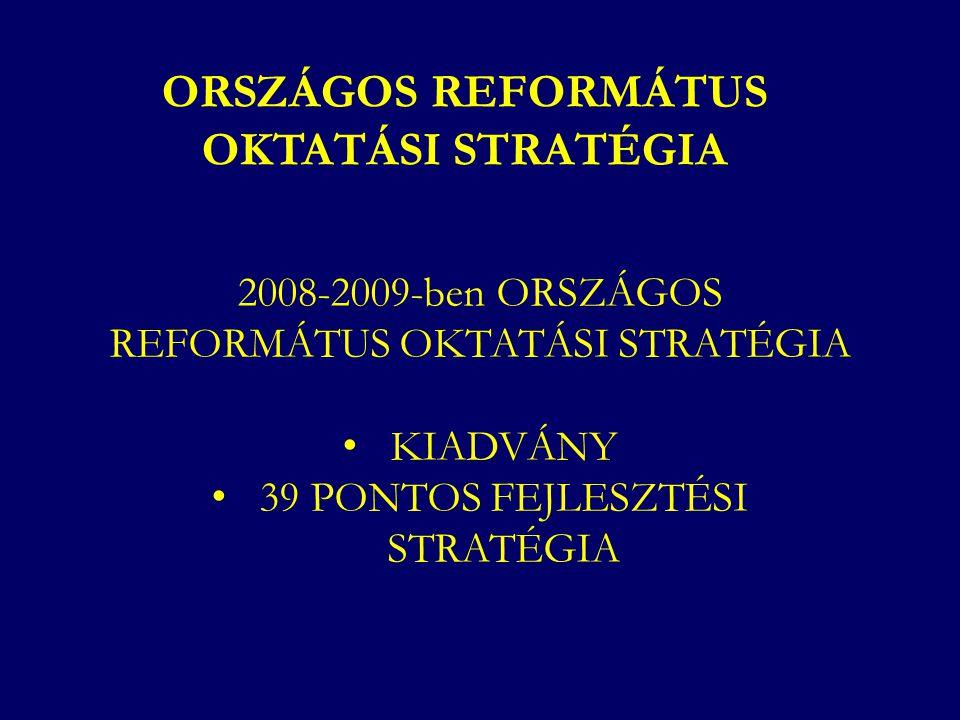 ORSZÁGOS REFORMÁTUS OKTATÁSI STRATÉGIA