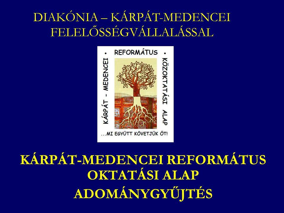 KÁRPÁT-MEDENCEI REFORMÁTUS OKTATÁSI ALAP ADOMÁNYGYŰJTÉS