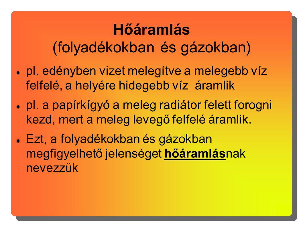 Hőáramlás (folyadékokban és gázokban)