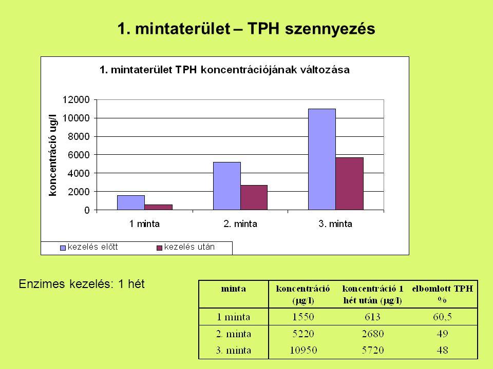 1. mintaterület – TPH szennyezés