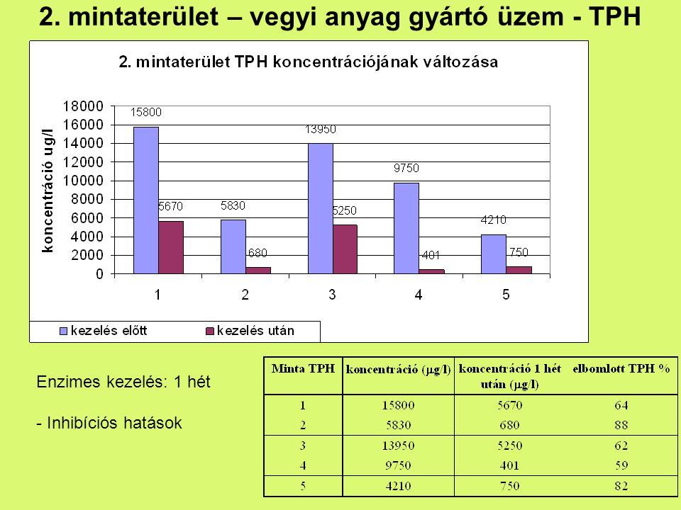 2. mintaterület – vegyi anyag gyártó üzem - TPH