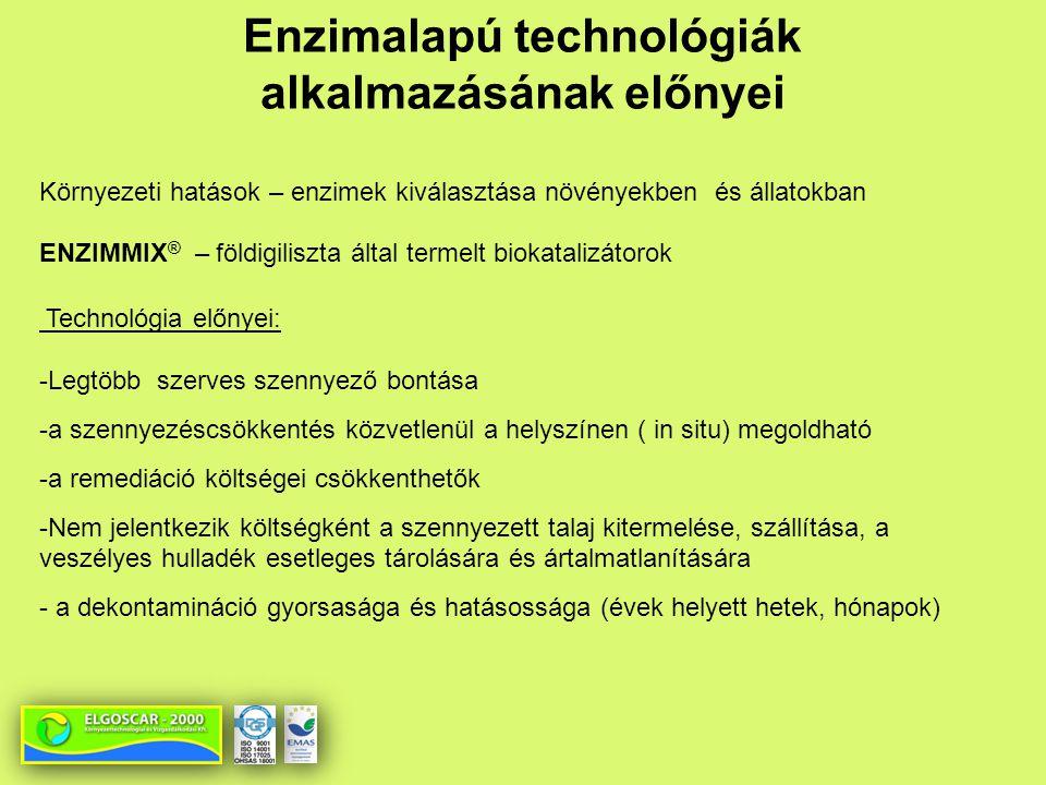 Enzimalapú technológiák alkalmazásának előnyei