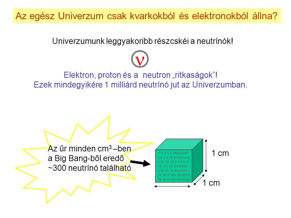 n Az egész Univerzum csak kvarkokból és elektronokból állna