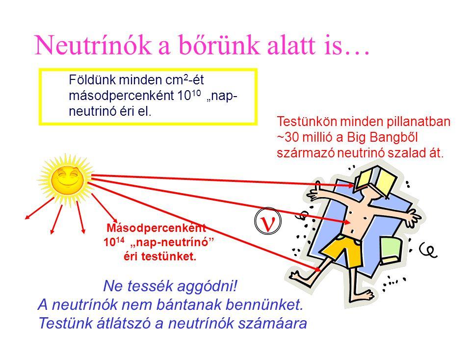n Neutrínók a bőrünk alatt is… Ne tessék aggódni!