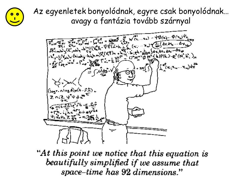 Az egyenletek bonyolódnak, egyre csak bonyolódnak…