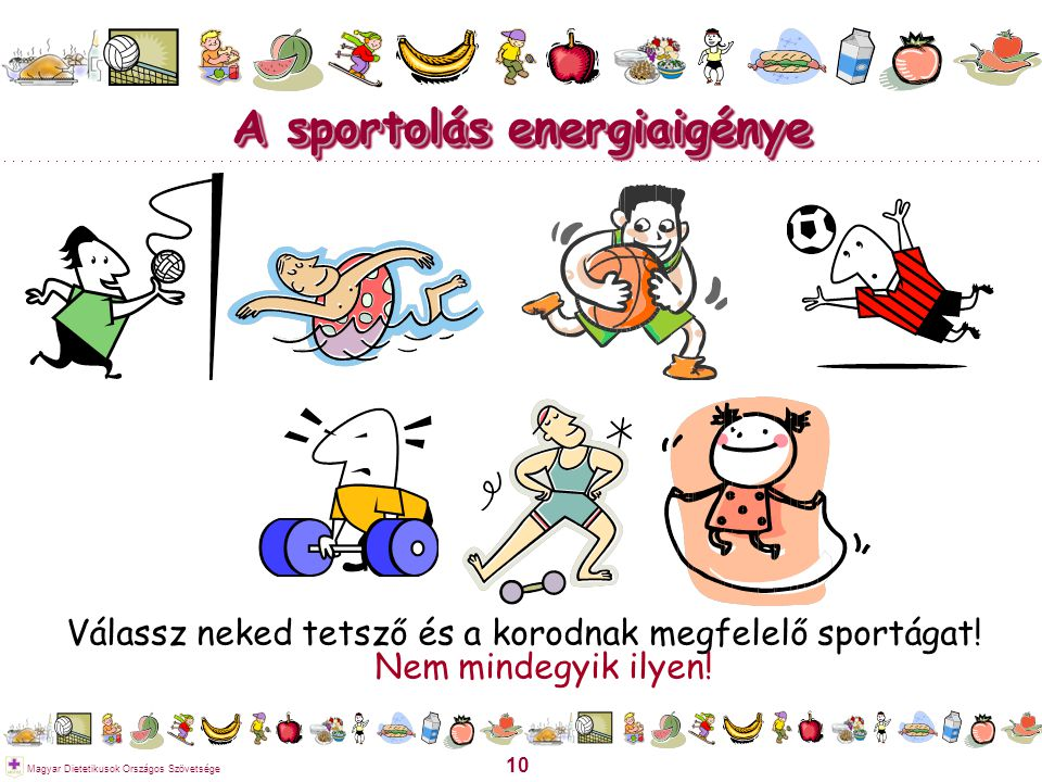 A sportolás energiaigénye