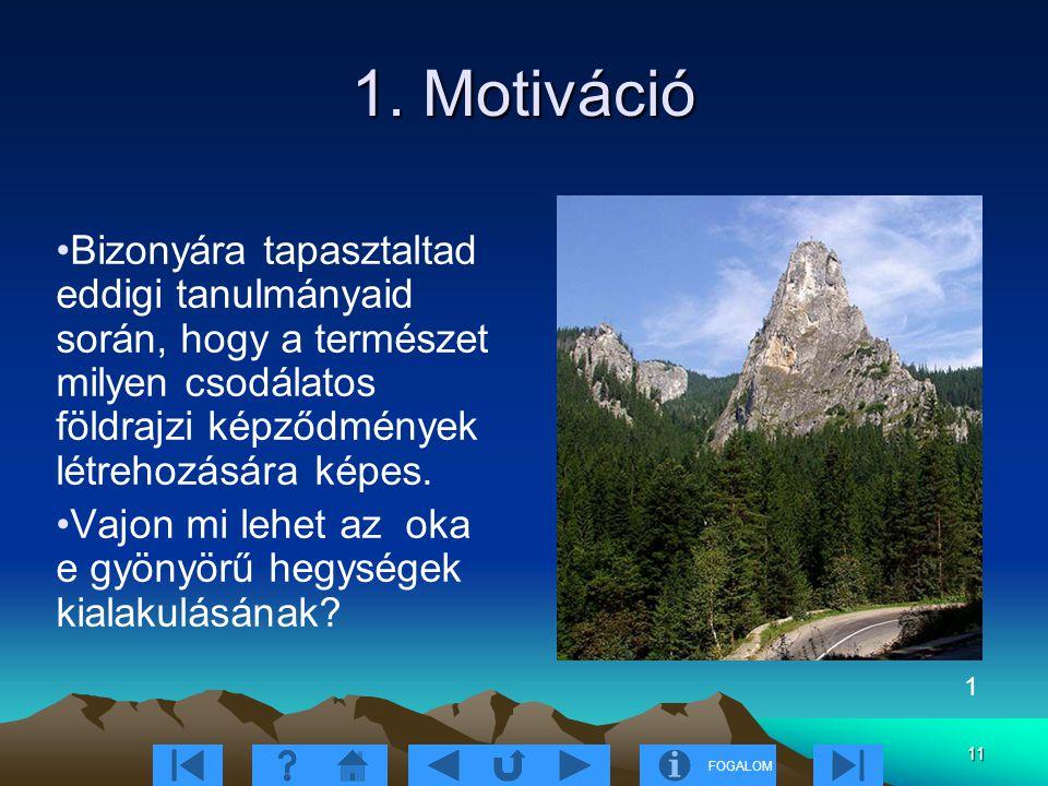 1. Motiváció Bizonyára tapasztaltad eddigi tanulmányaid során, hogy a természet milyen csodálatos földrajzi képződmények létrehozására képes.