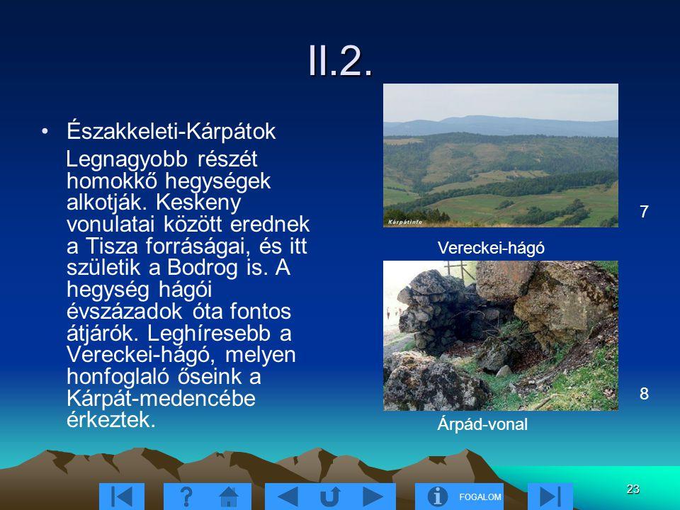 II.2. Északkeleti-Kárpátok