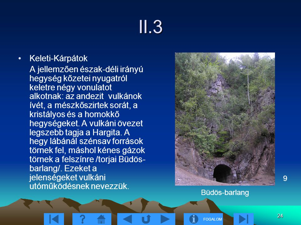 II.3 Keleti-Kárpátok.