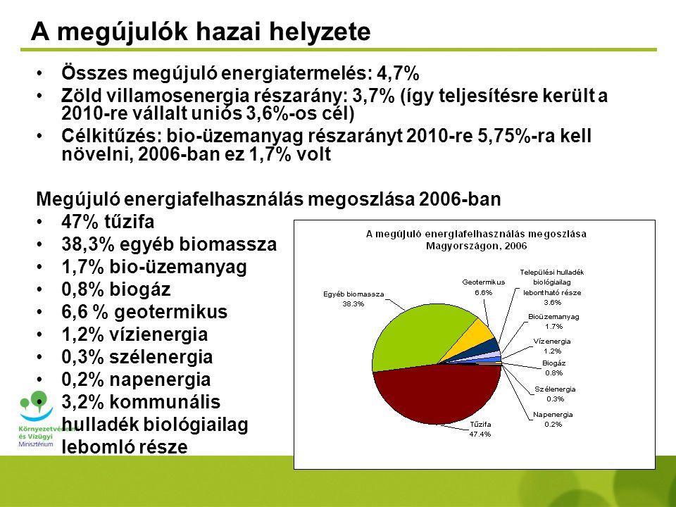 A megújulók hazai helyzete