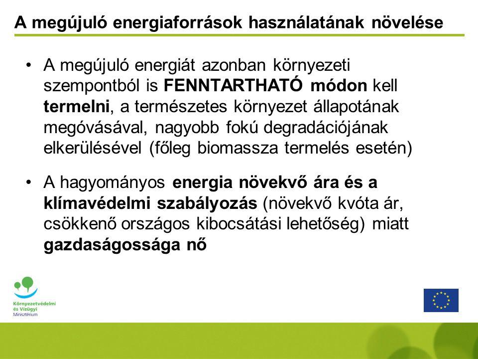 A megújuló energiaforrások használatának növelése