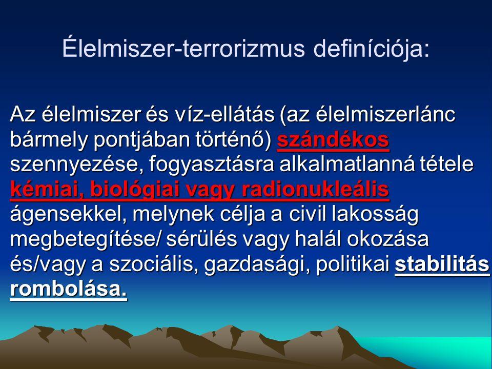 Élelmiszer-terrorizmus definíciója: