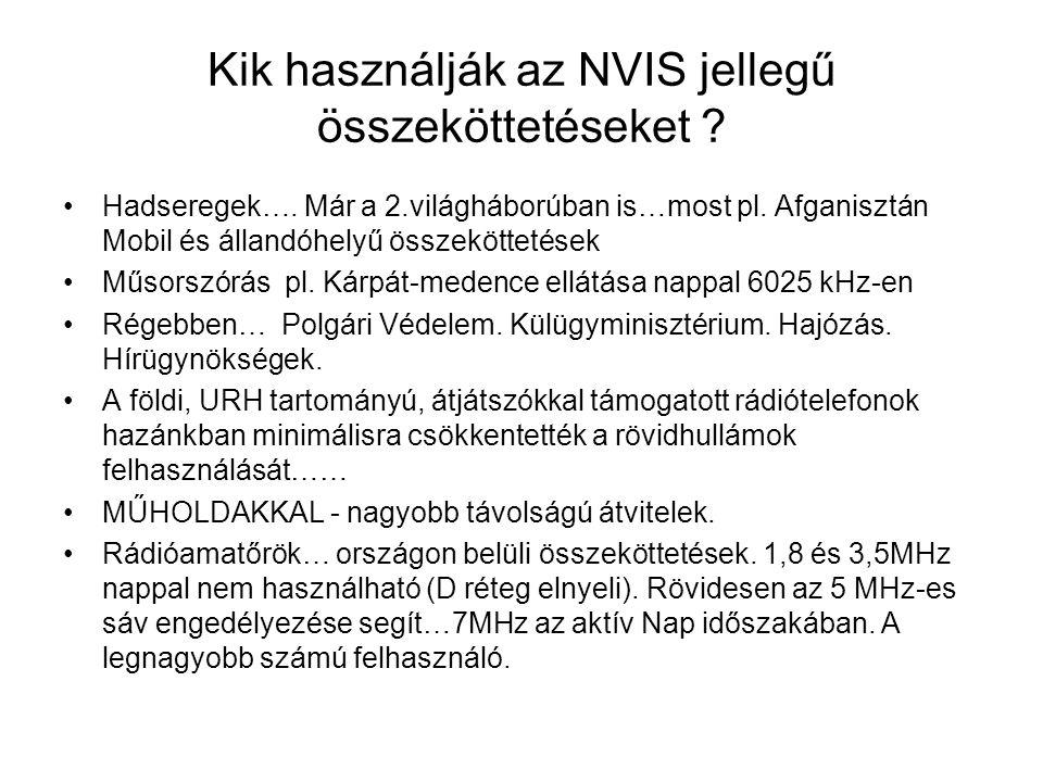 Kik használják az NVIS jellegű összeköttetéseket