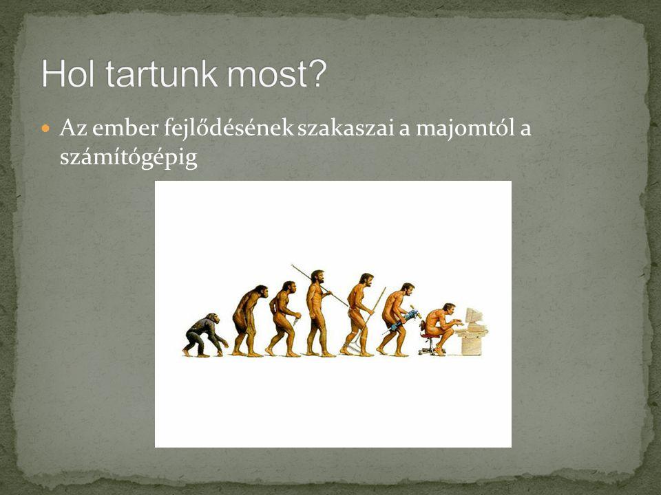 Hol tartunk most Az ember fejlődésének szakaszai a majomtól a számítógépig