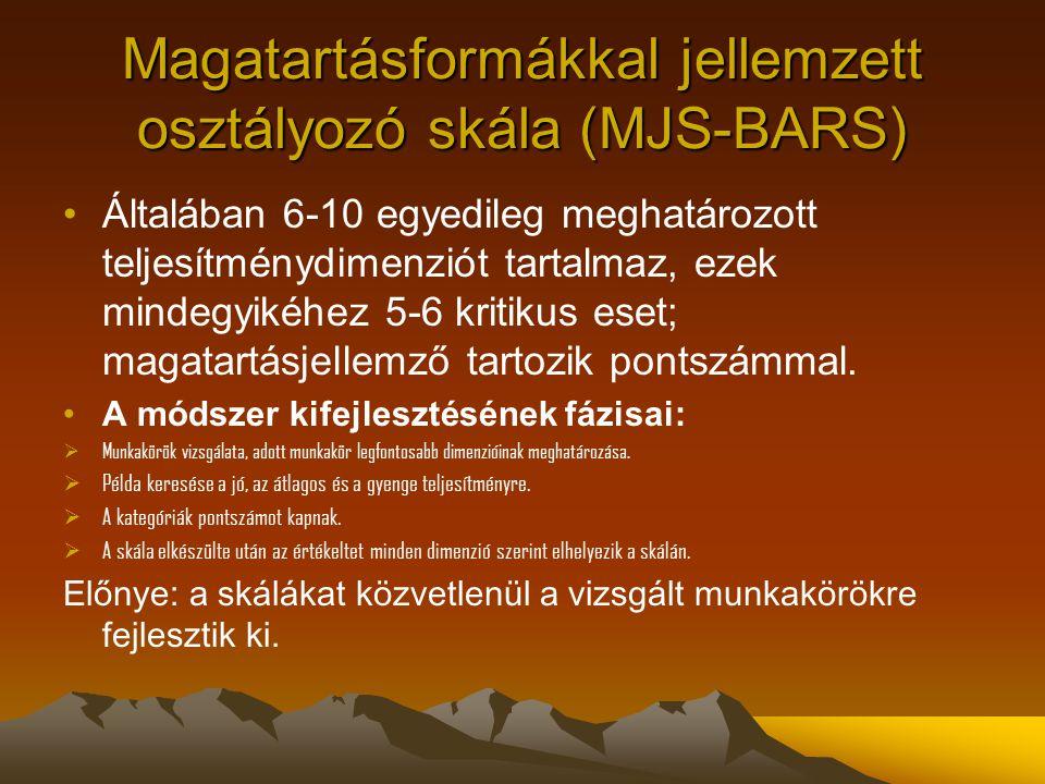 Magatartásformákkal jellemzett osztályozó skála (MJS-BARS)