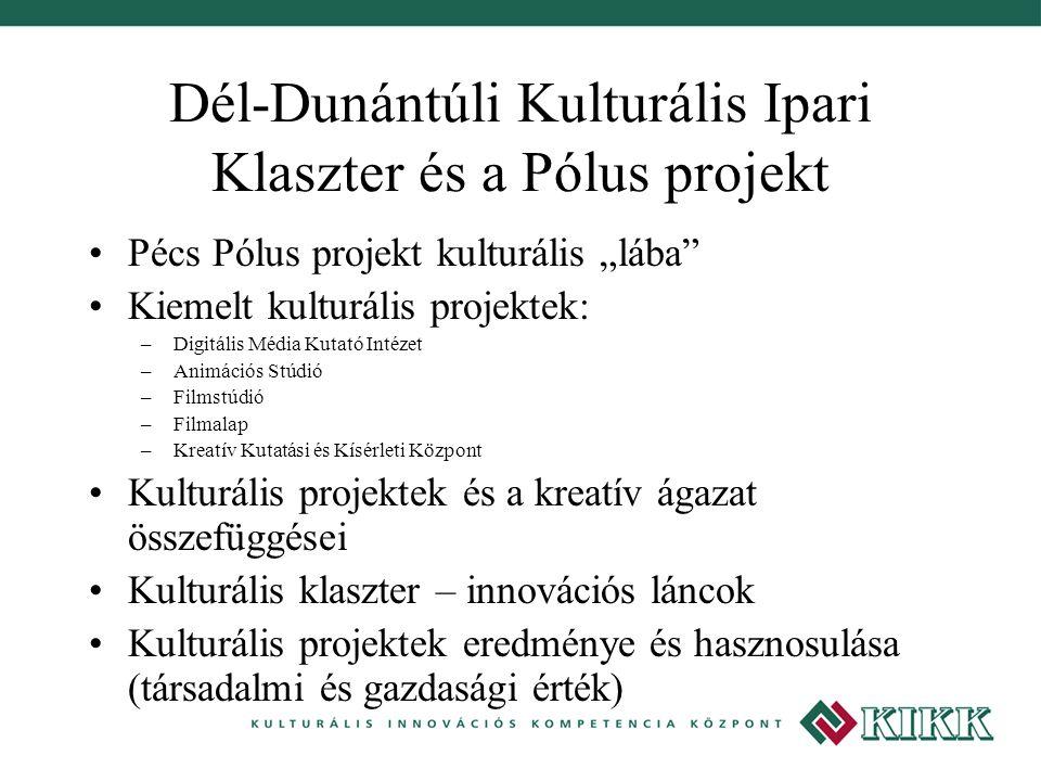 Dél-Dunántúli Kulturális Ipari Klaszter és a Pólus projekt