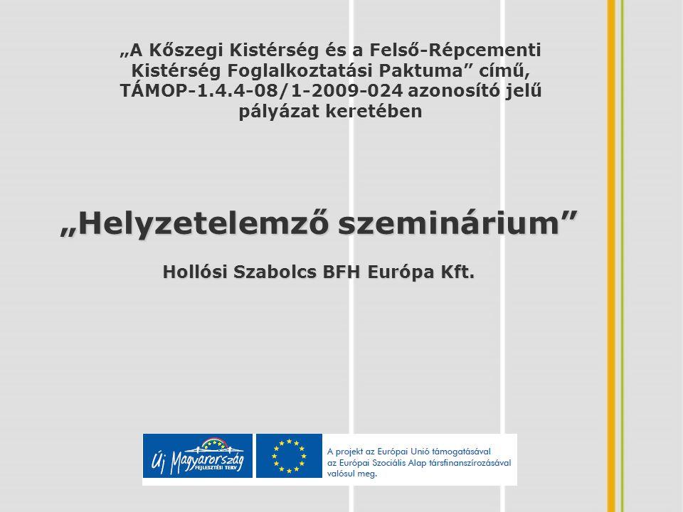 """""""Helyzetelemző szeminárium Hollósi Szabolcs BFH Európa Kft."""