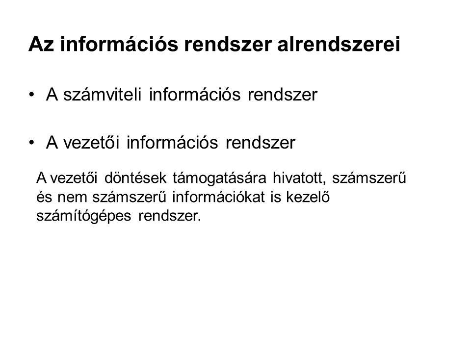 Az információs rendszer alrendszerei