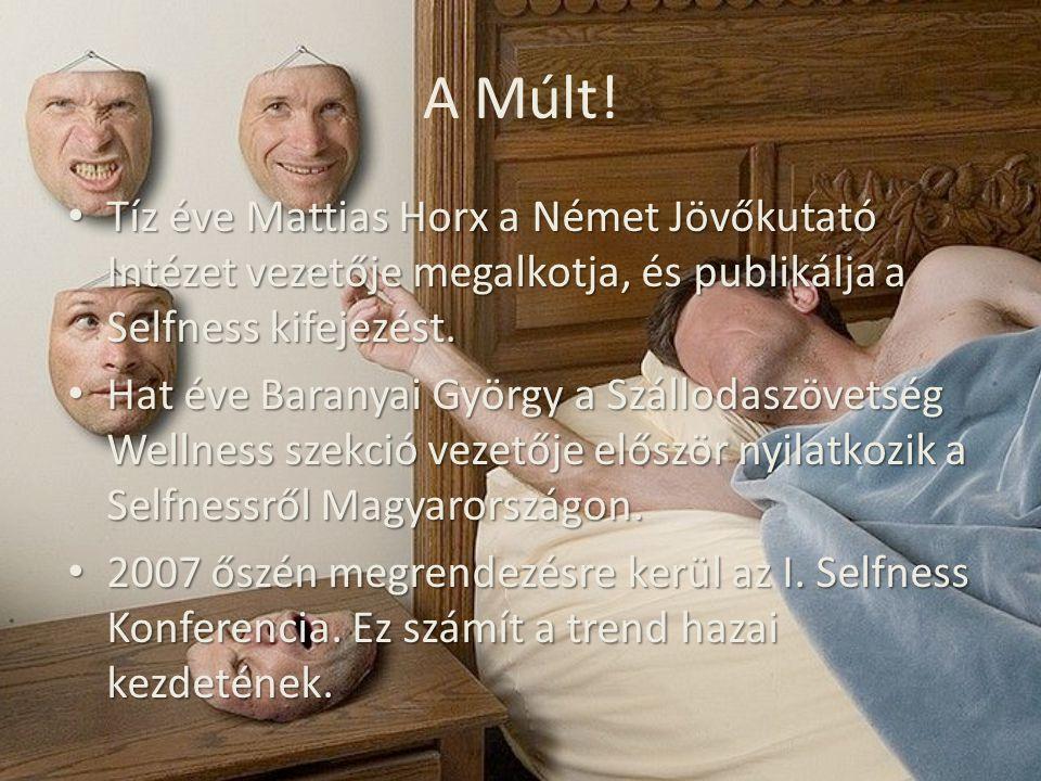 A Múlt! Tíz éve Mattias Horx a Német Jövőkutató Intézet vezetője megalkotja, és publikálja a Selfness kifejezést.