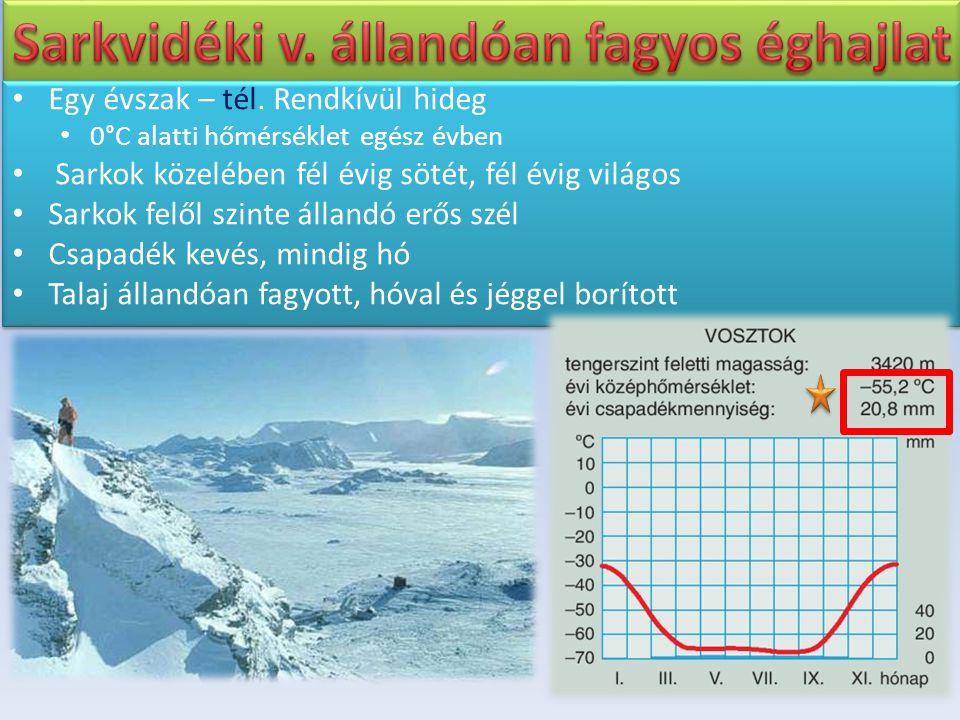 Sarkvidéki v. állandóan fagyos éghajlat