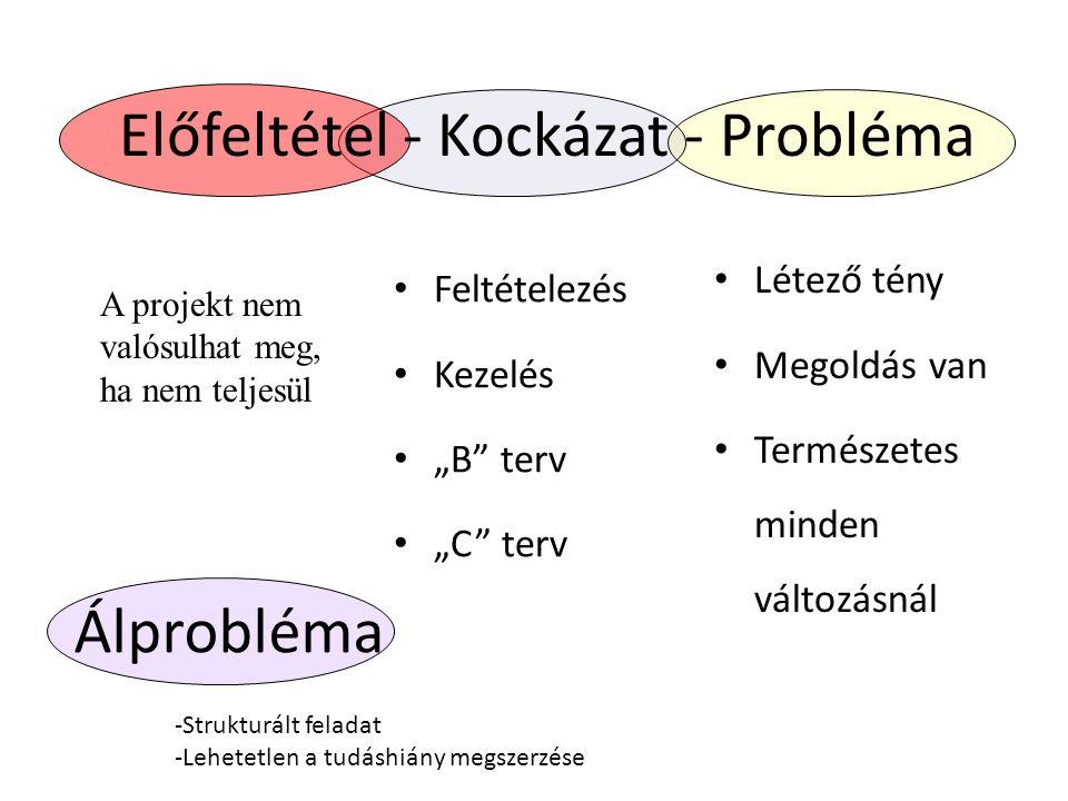 Előfeltétel - Kockázat - Probléma