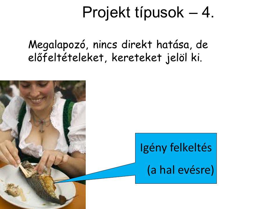 Projekt típusok – 4. Igény felkeltés (a hal evésre)