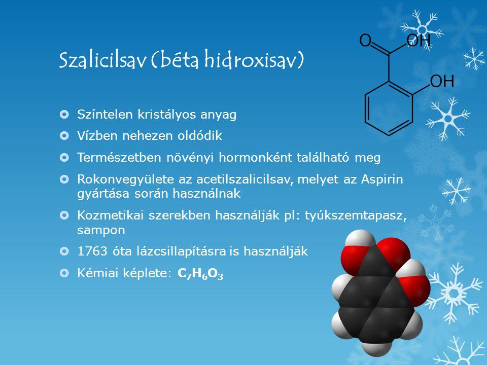 Szalicilsav (béta hidroxisav)