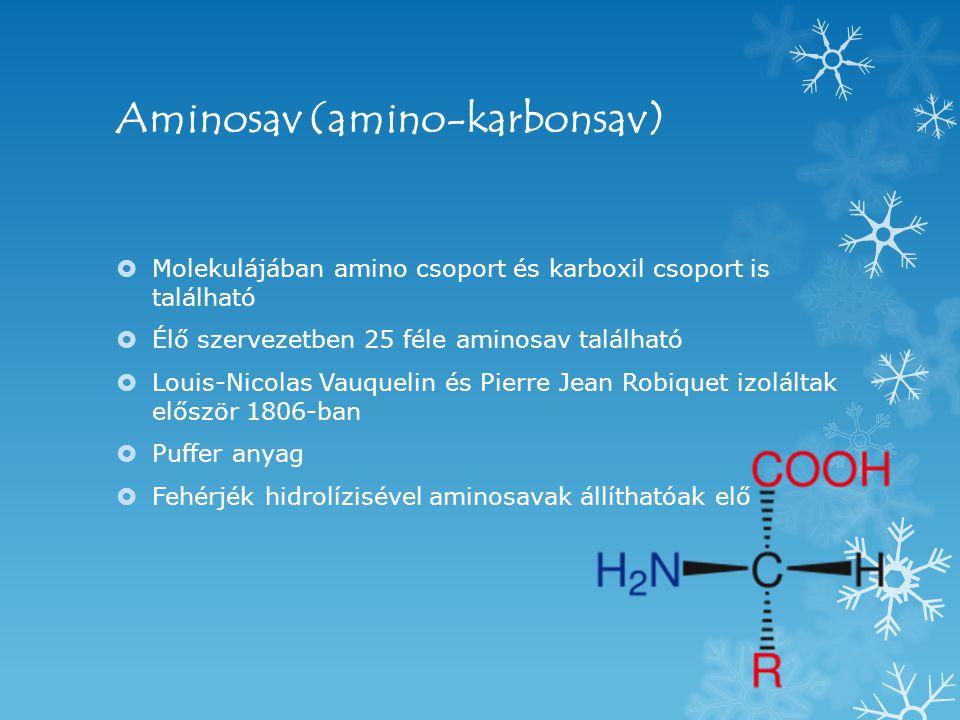 Aminosav (amino-karbonsav)
