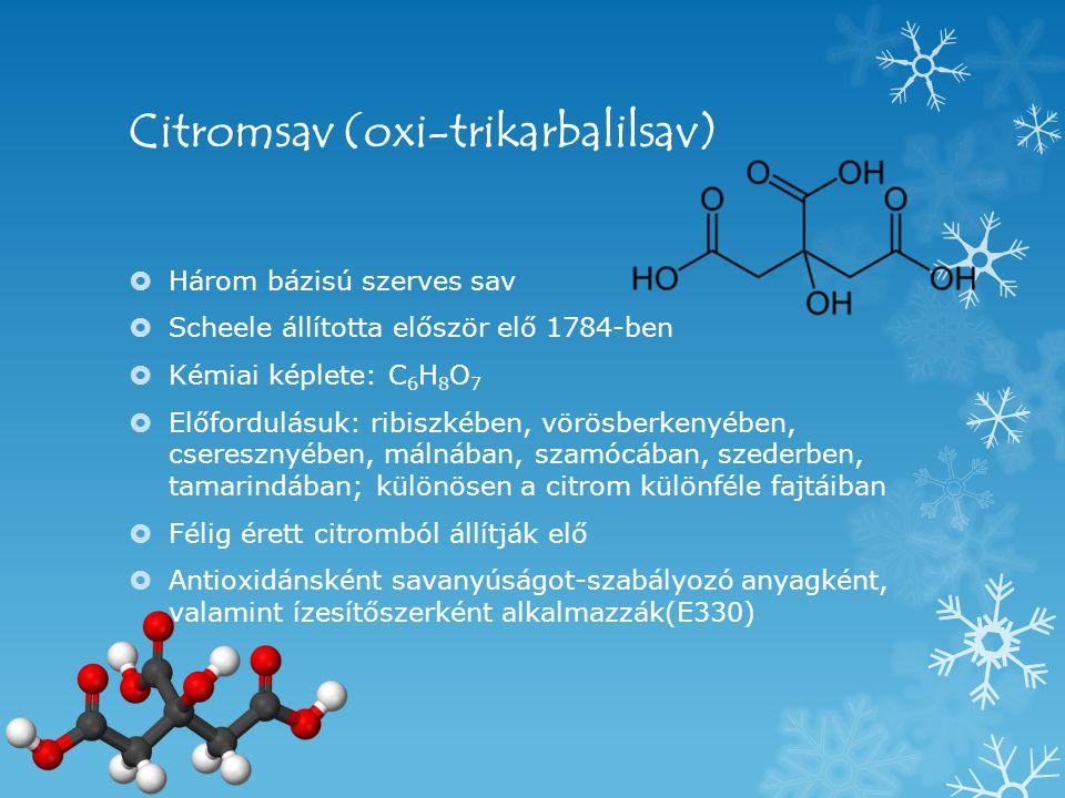 Citromsav (oxi-trikarbalilsav)