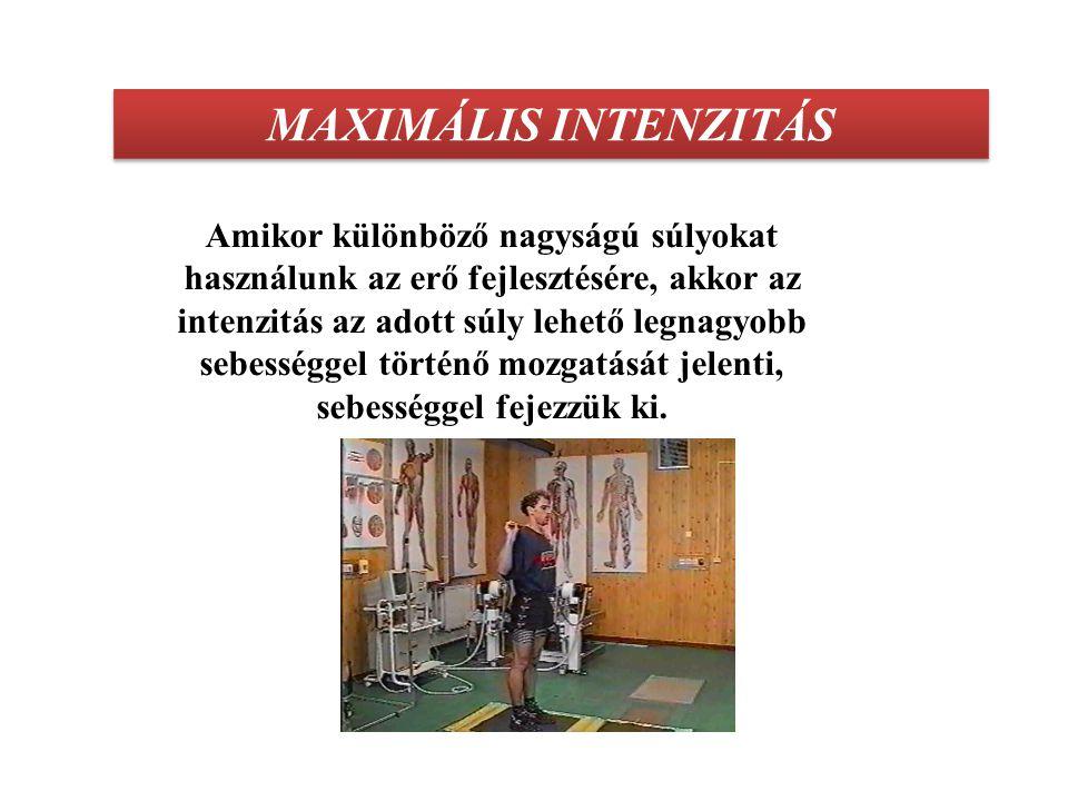 MAXIMÁLIS INTENZITÁS