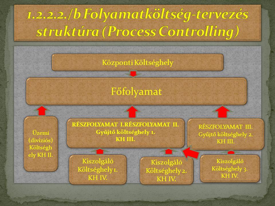 1.2.2.2./b Folyamatköltség-tervezés struktúra (Process Controlling)