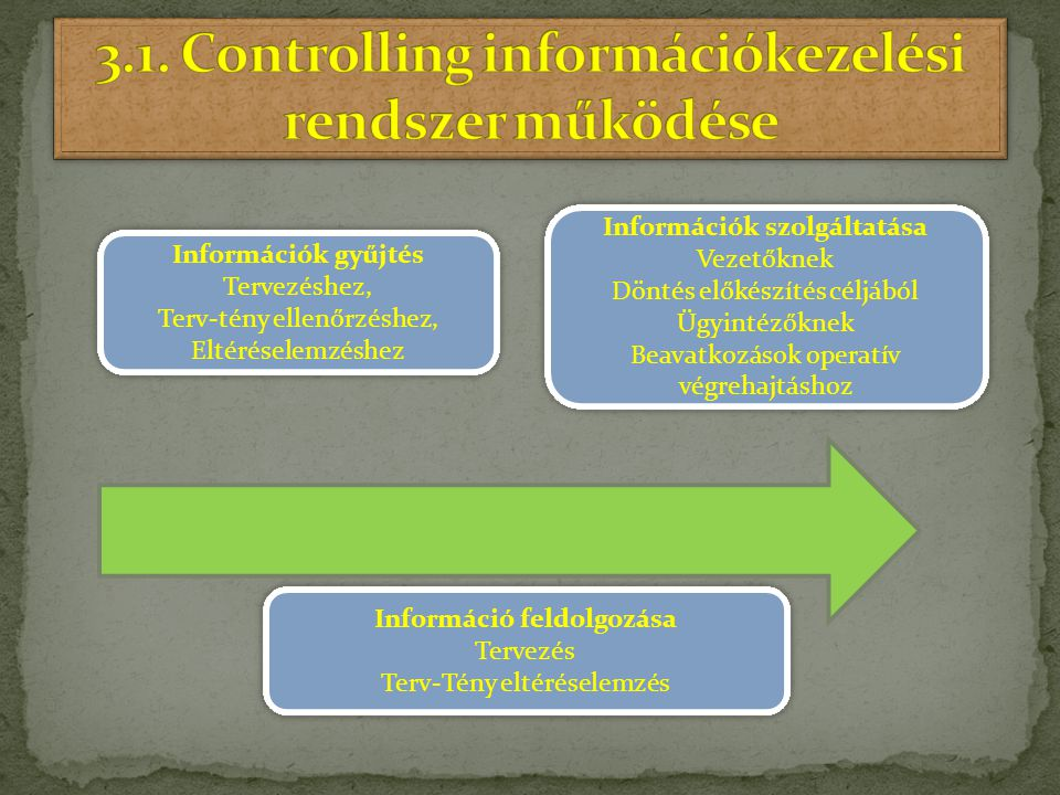 3.1. Controlling információkezelési rendszer működése