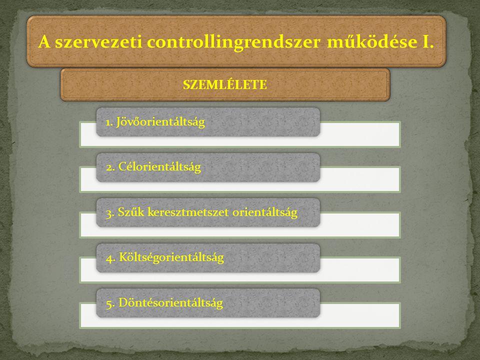 A szervezeti controllingrendszer működése I.