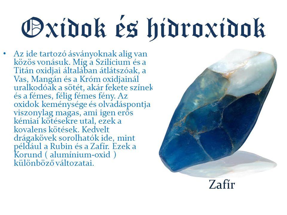 Oxidok és hidroxidok Zafír