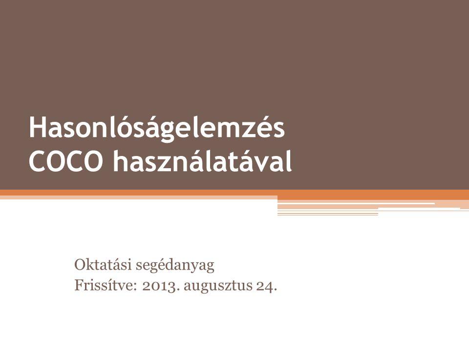 Hasonlóságelemzés COCO használatával