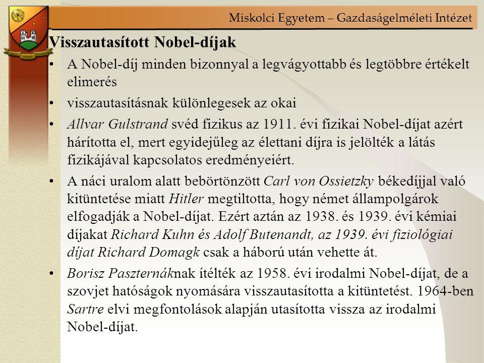 Visszautasított Nobel-díjak