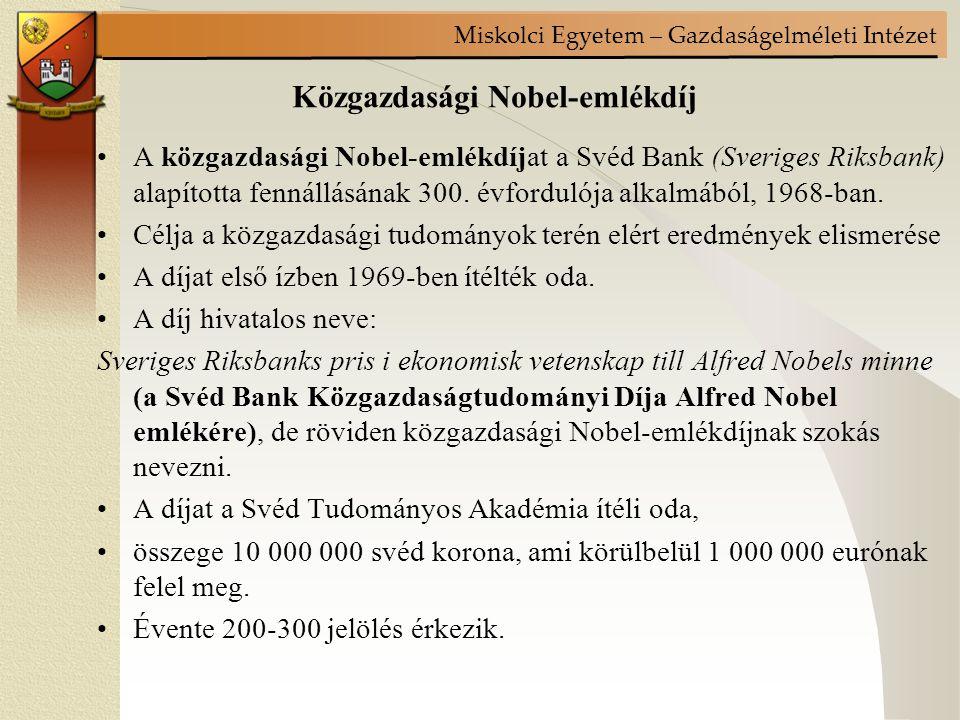 Közgazdasági Nobel-emlékdíj