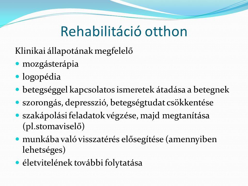 Rehabilitáció otthon Klinikai állapotának megfelelő mozgásterápia