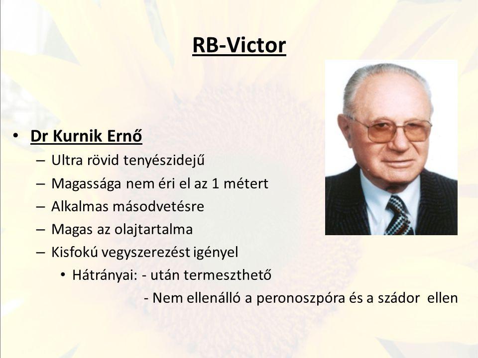 RB-Victor Dr Kurnik Ernő Ultra rövid tenyészidejű