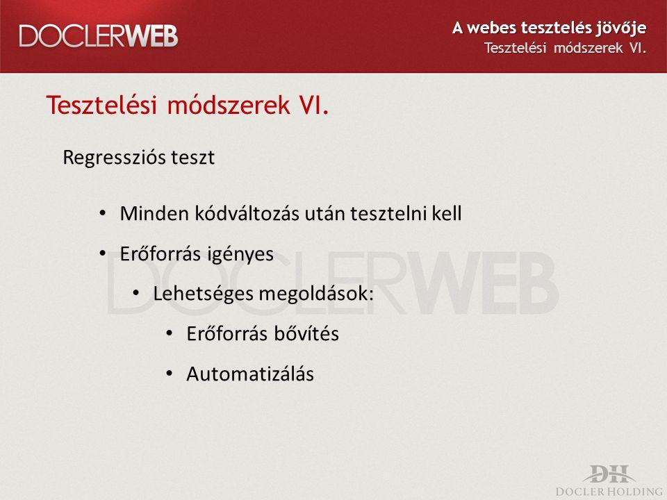 Tesztelési módszerek VI.