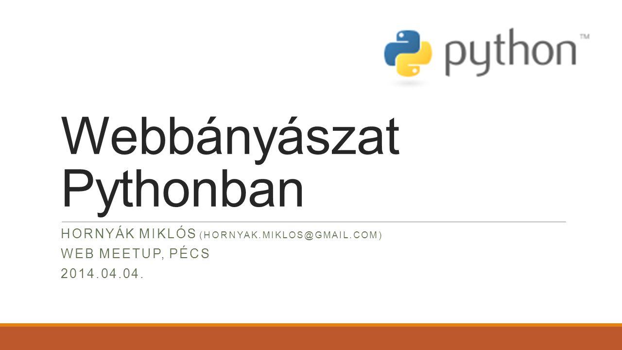 Webbányászat Pythonban