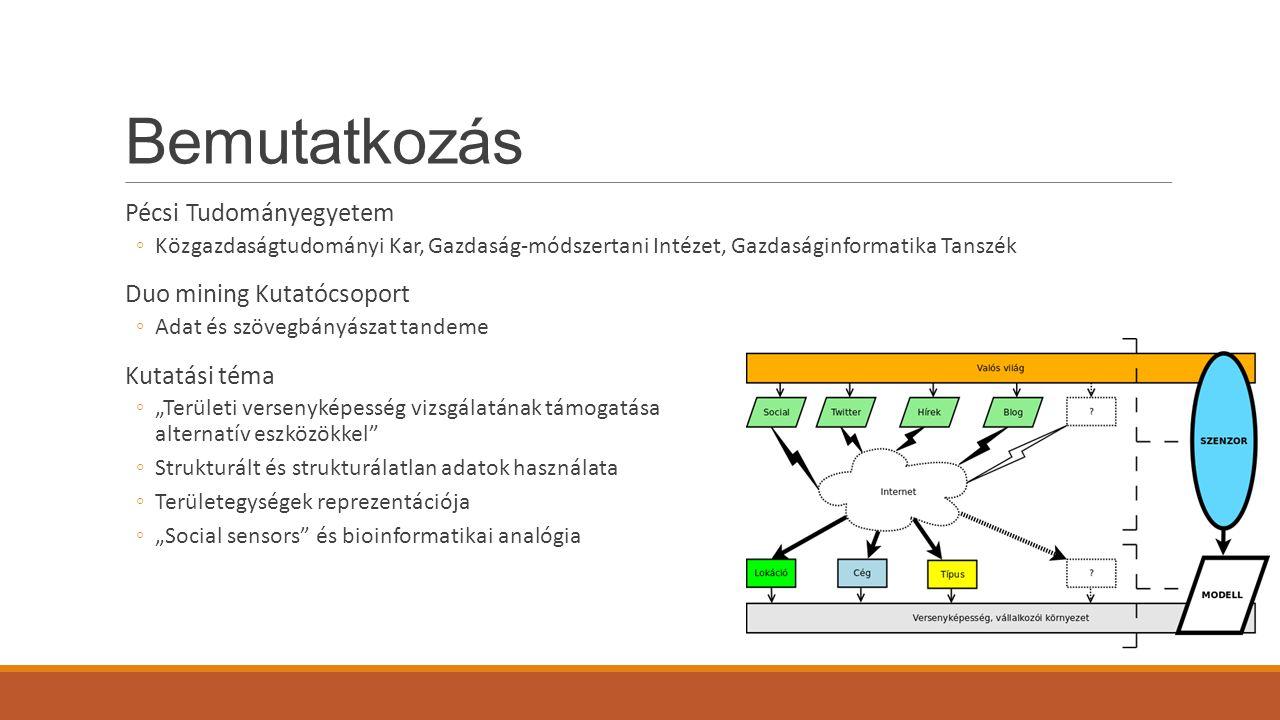 Bemutatkozás Pécsi Tudományegyetem Duo mining Kutatócsoport