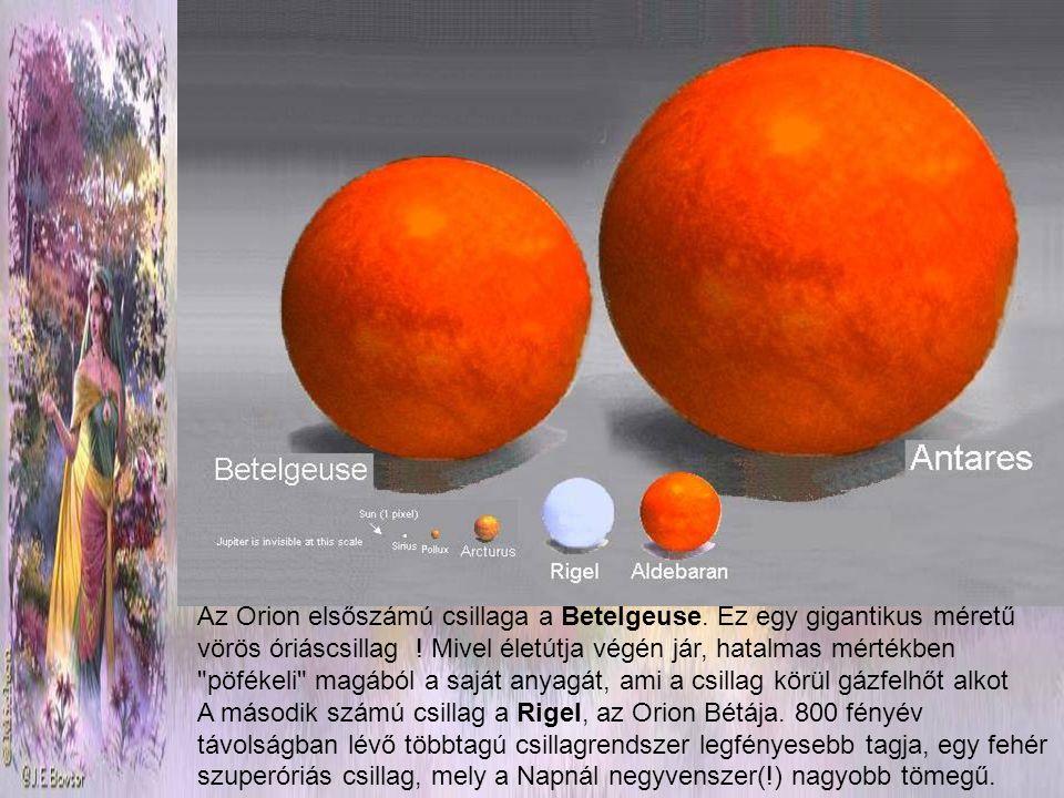 Az Orion elsőszámú csillaga a Betelgeuse